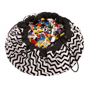 Play & Go Opbergzak/Speelkleed Zigzag Zwart